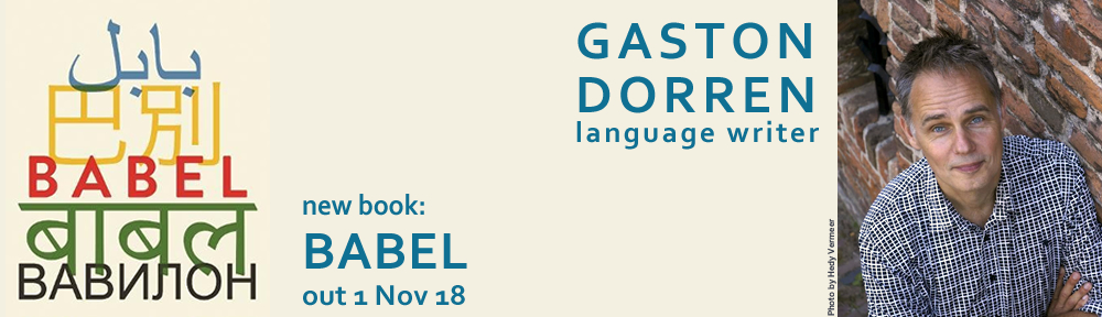 Gaston Dorren, language writer